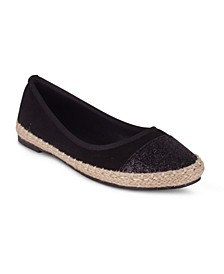 ZEAL Women's Metallic Upper Espadrille Flat