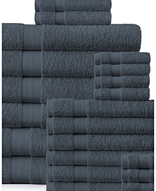 Plush Towel Set - 24 Piece