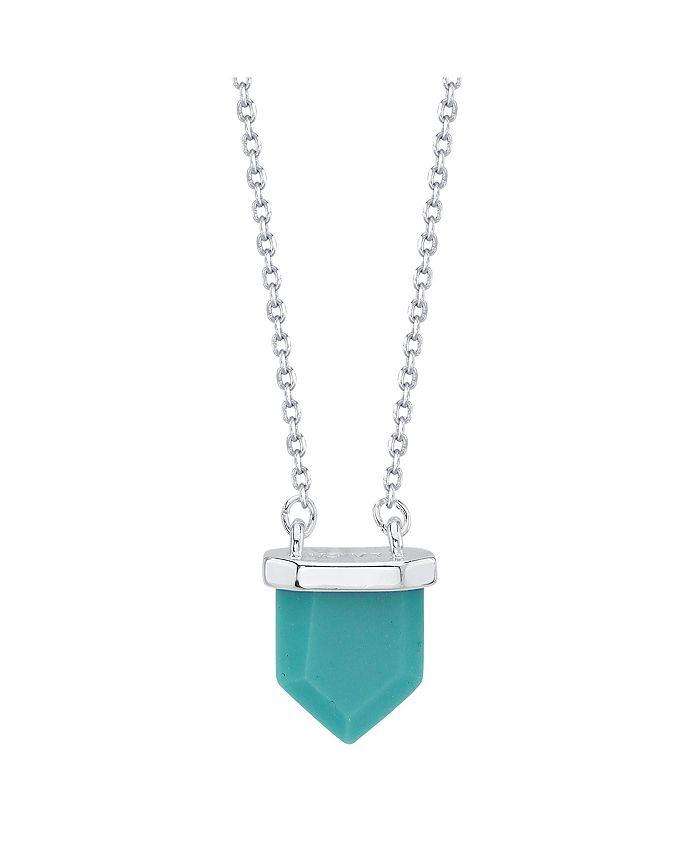 "Unwritten - Genuine Stone Pendant Necklace, 16""+2"" Extender"