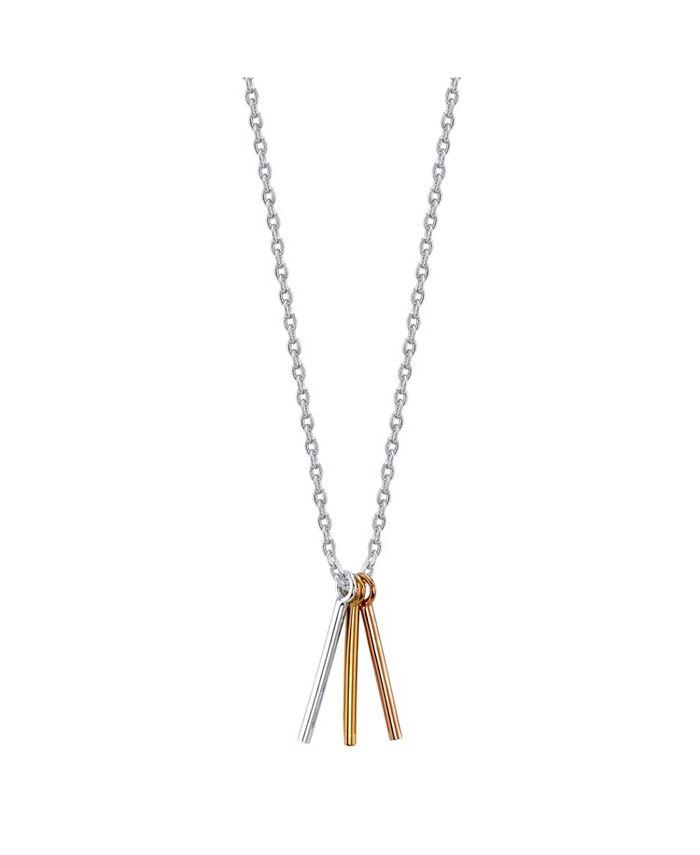 Unwritten - Tri-Tone Tripple Bar Necklace