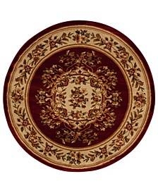 """Asbury ASB37 Red 5'3"""" Round Area Rug"""