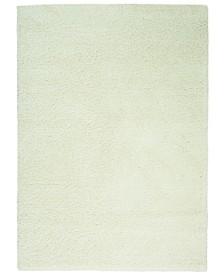 "Cali Shag CAL01 Ivory 5'3"" x 7'3"" Area Rug"