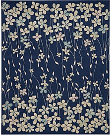 "Peace PEA04 Navy 8'10"" x 11'10"" Area Rug"