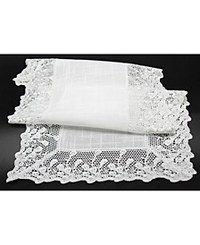 Garden Trellece Lace Trim Table Runner