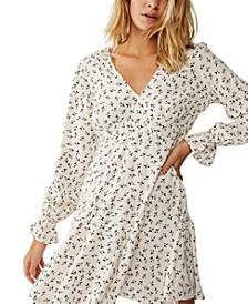 Woven Pepa Long Sleeve Mini Dress