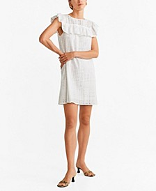 Ruffled Open-Work Dress