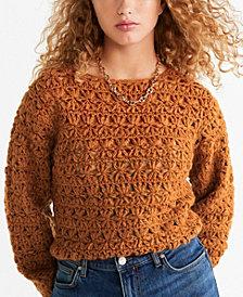 MANGO Crochet Sweater