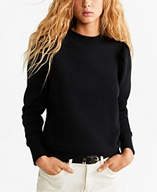 Puffed-Shoulder Sweatshirt