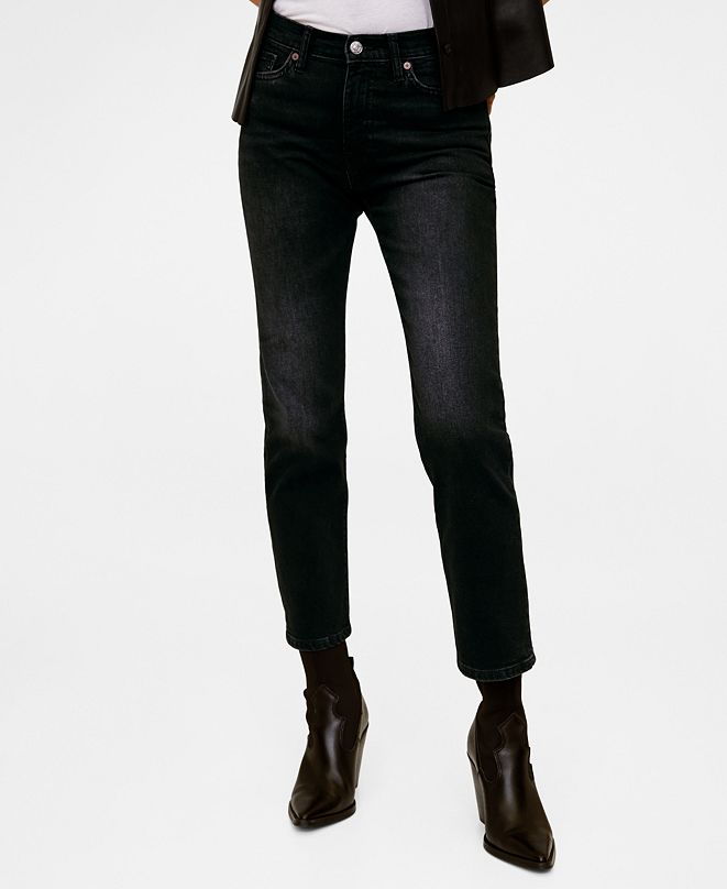 MANGO Crop Slim-Fit Grace Jeans