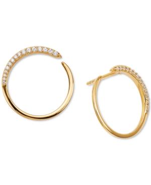 Crystal Wrap-Around Hoop Earrings