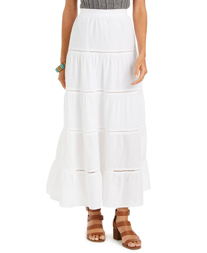 Style & Co - Tiered Cotton Maxi Skirt