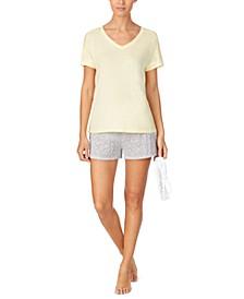 T-Shirt & Printed Boxer Shorts Pajama Set