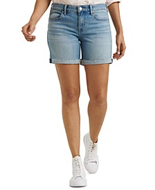 The Roll Up Denim Shorts