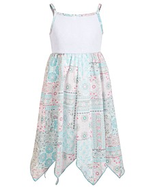 Toddler Girls Lace Handkerchief-Hem Dress
