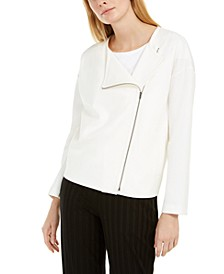 Asymmetrical-Zip Jacket, Regular & Petite Sizes