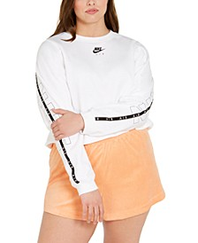 Air Plus Size Crewneck Cropped Top