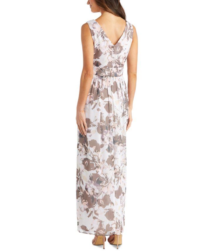 R & M Richards Rhinestone-Trim Chiffon Gown & Reviews - Dresses - Women - Macy's