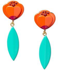 Multicolor Statement Drop Earrings