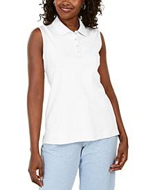 Cotton Sleeveless Polo Shirt, Created for Macy's