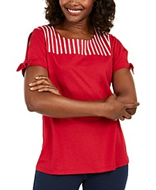 Striped-Yoke Top, Created for Macy's