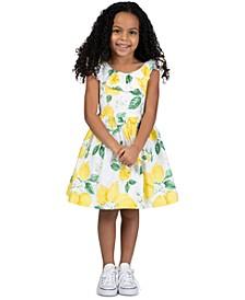 Toddler Girls Ruffled Lemon Dress