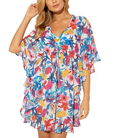 Ruffled Caftan Cover-Up