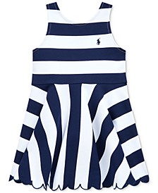 Toddler Girls Striped Stretch Ponte Dress