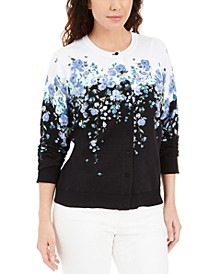 Corsage Printed Button Cardigan, Created for Macy's