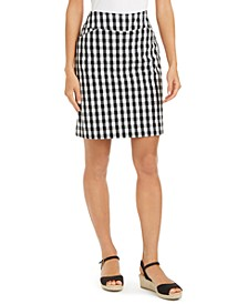 Gingham Pull-On Skort, Created for Macy's