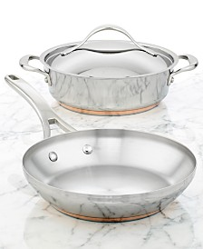 Anolon Nouvelle Copper Stainless Steel 3 Piece Cookware Set