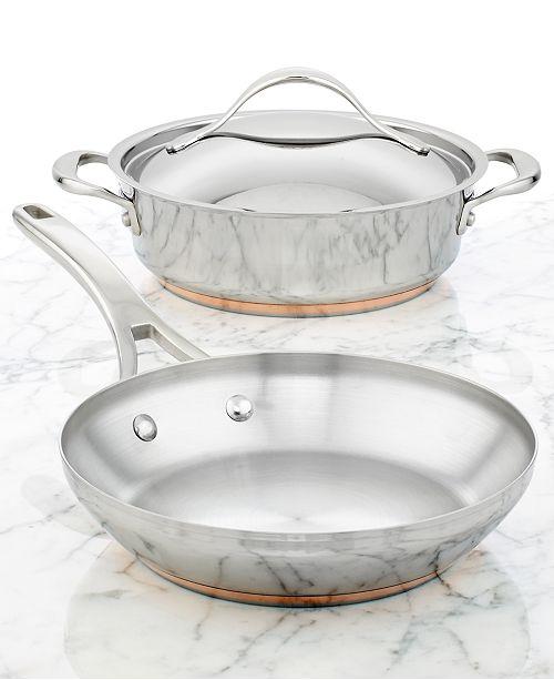 Anolon Nouvelle Copper Stainless Steel 3 Piece Cookware Set
