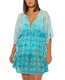 Plus Size Make Waves Printed Caftan Cover Up