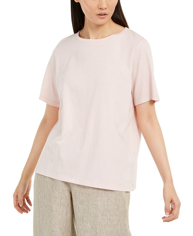 Eileen Fisher Cotton Striped T-Shirt