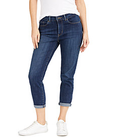 Levi's® Cropped Cuffed Straight-Leg Jeans