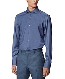 BOSS Men's Jason Open Blue Shirt