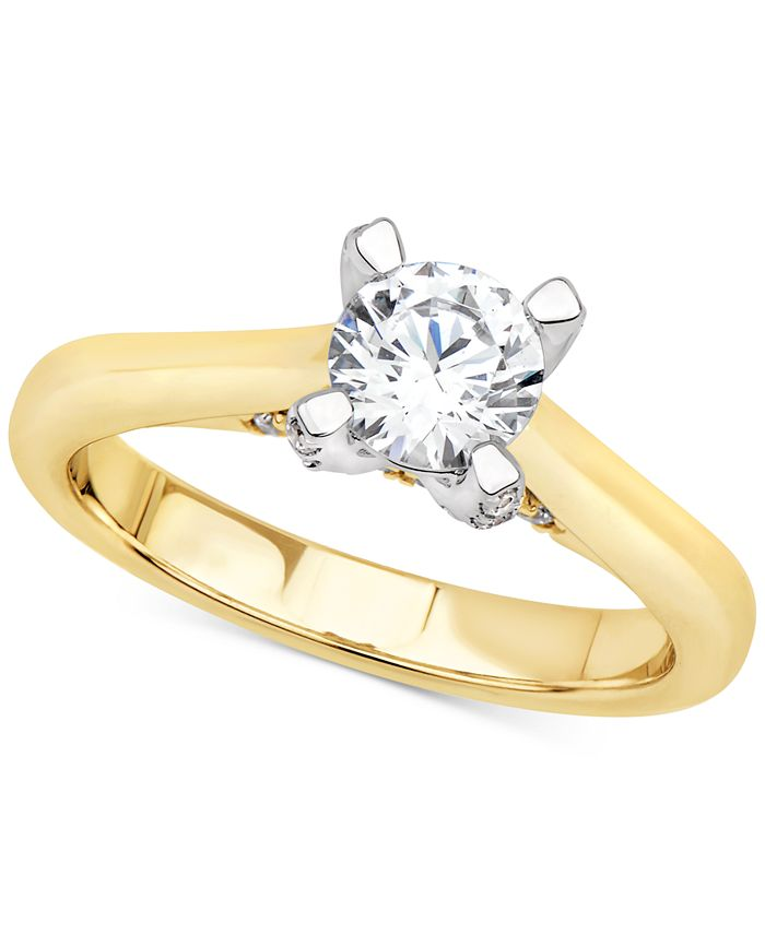Macy's - Certified Diamond Solitaire Engagement Ring (1 ct. t.w.) in 14k Gold