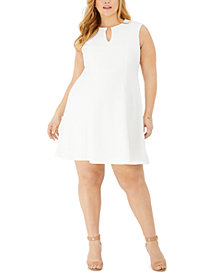 Jessica Howard Petite Keyhole Fit & Flare Dress