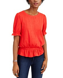 Banded Pointelle Top