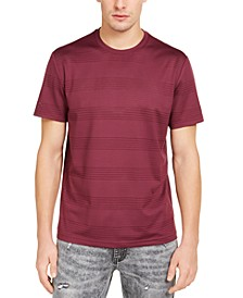 INC Men's Perforated Striped T-Shirt, Created for Macy's