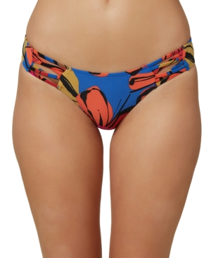 O'neill Juniors' Gala Printed Strappy Hipster Bikini Bottoms Women's Swimsuit In Blue
