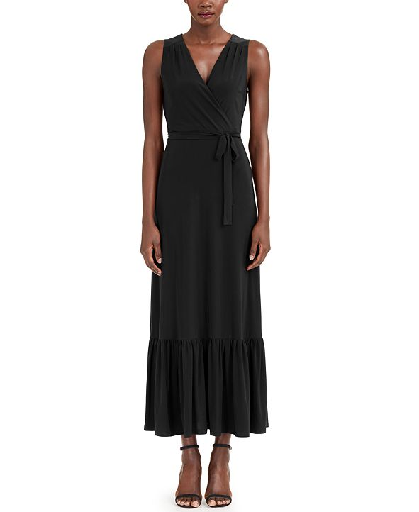 INC International Concepts INC Faux-Wrap Maxi Dress, Created for Macy's