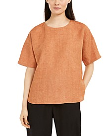 Organic Linen Boxy Top, Regular & Petite Sizes