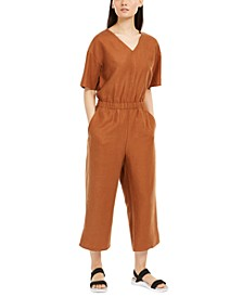 V-Neck Jumpsuit, Regular & Petite Sizes
