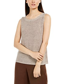 Organic Linen Sleeveless Sweater