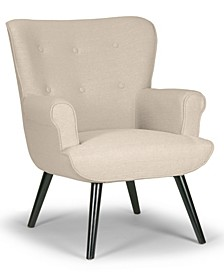 Alexi Modern Fabric Wing Chair with Button Tufted Back