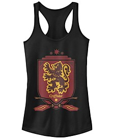 Harry Potter Gryffindor Broomstick Shield Women's Racerback Tank