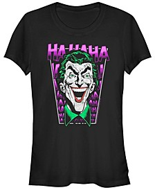 DC Batman Laughing Joker Portrait Women's Short Sleeve T-Shirt