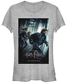 Harry Potter Deathly Hallows Part One Poster Women's Short Sleeve T-Shirt