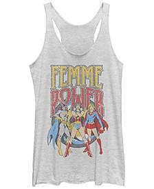 DC Justice League Femme Power Tri-Blend Women's Racerback Tank