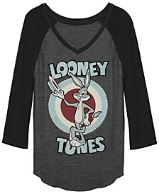 Looney Tunes Bugs Bunny Target Raglan Baseball Women's T-Shirt